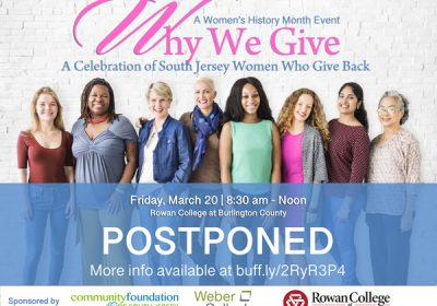 WHY WE GIVE Event Postponed