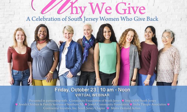 Virtual Why We Give Event Takes Place Oct. 23 10-noon